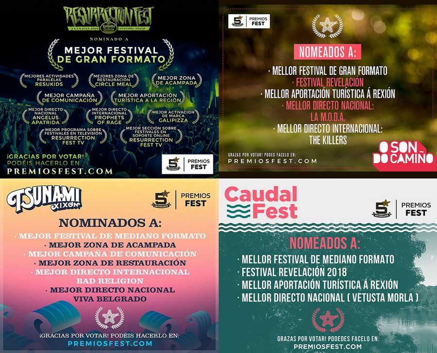 26 NOMINACIONES A LOS PREMIOS FEST