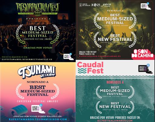 ¡NOMINACIONES A LOS PREMIOS EUROPEAN FESTIVAL AWARDS!