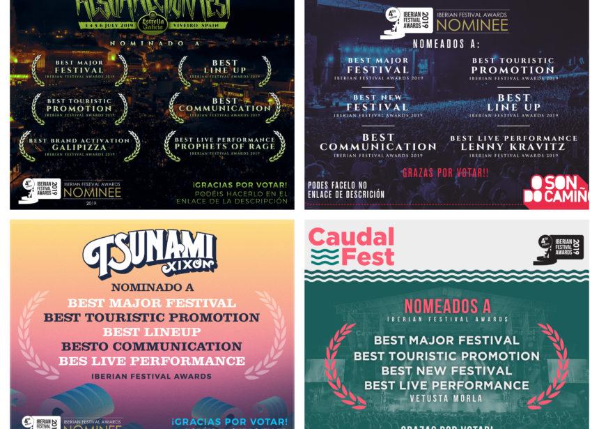 ¡NOMINACIONES A LOS PREMIOS IBERIAN FESTIVAL AWARDS 2019!