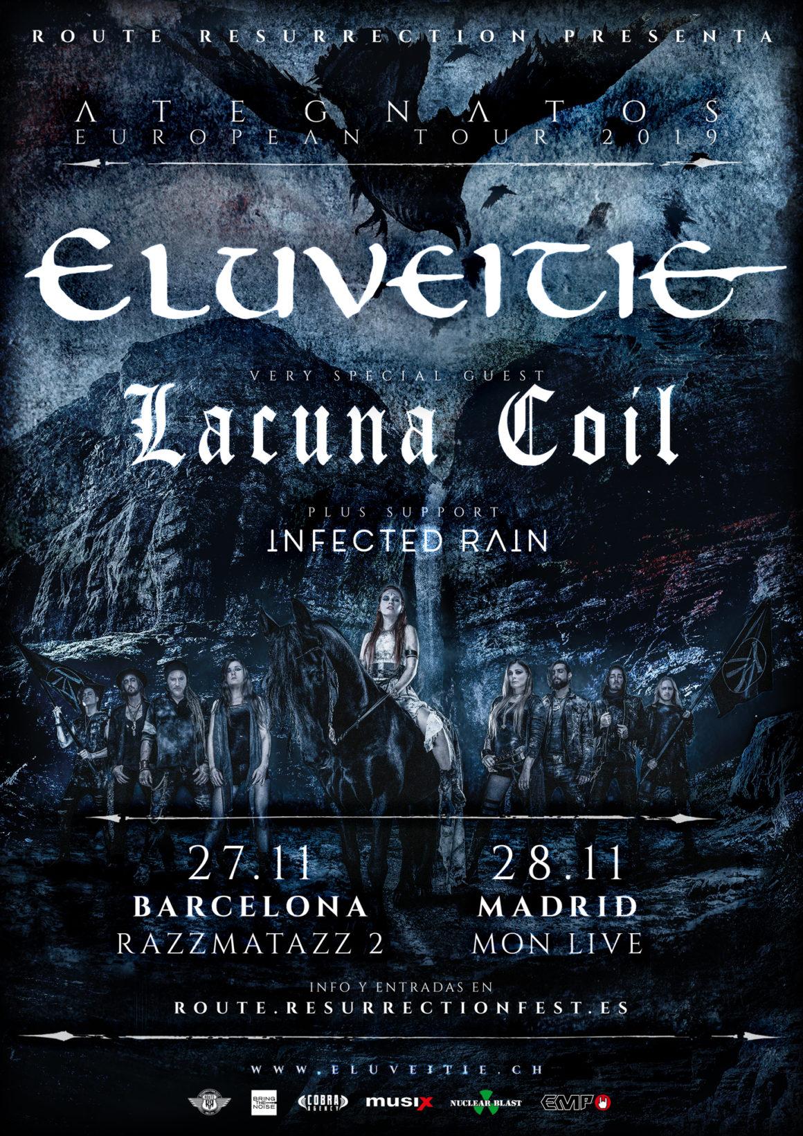 Nueva gira Route Resurrection: Eluveitie y Lacuna Coil