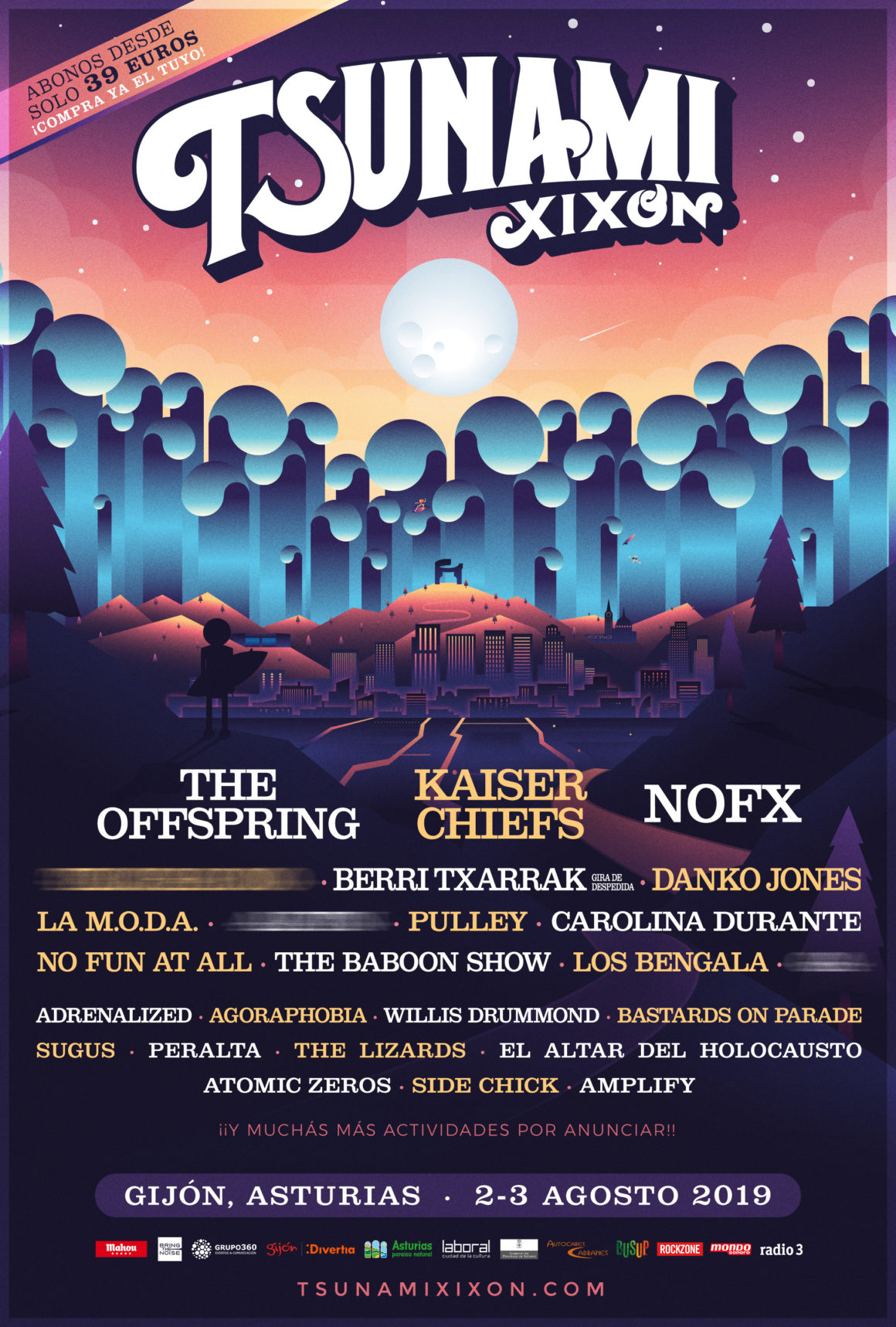 The Offspring, Kaiser Chiefs y Nofx encabezarán el Tsunami Xixón 2019