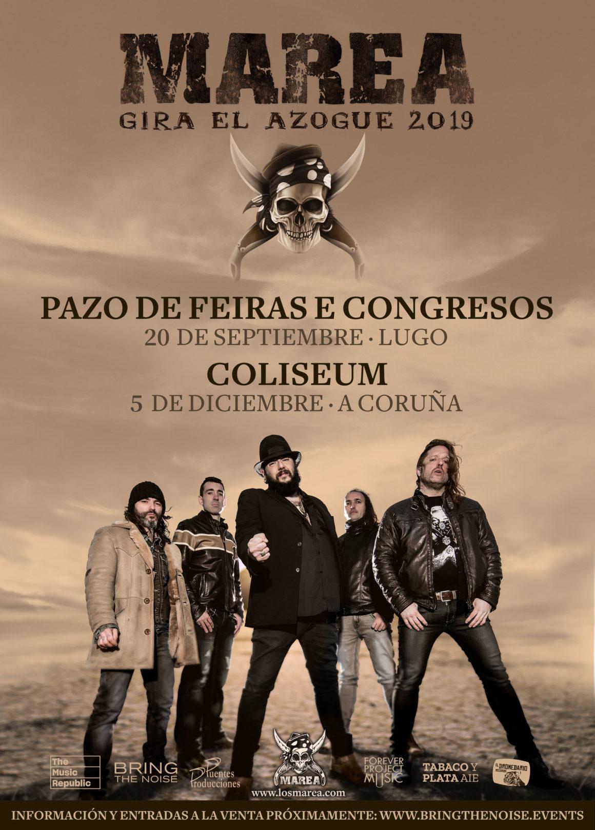 Confirmados los conciertos en A Coruña y Lugo del regreso de Marea presentando su nuevo disco «El Azogue»