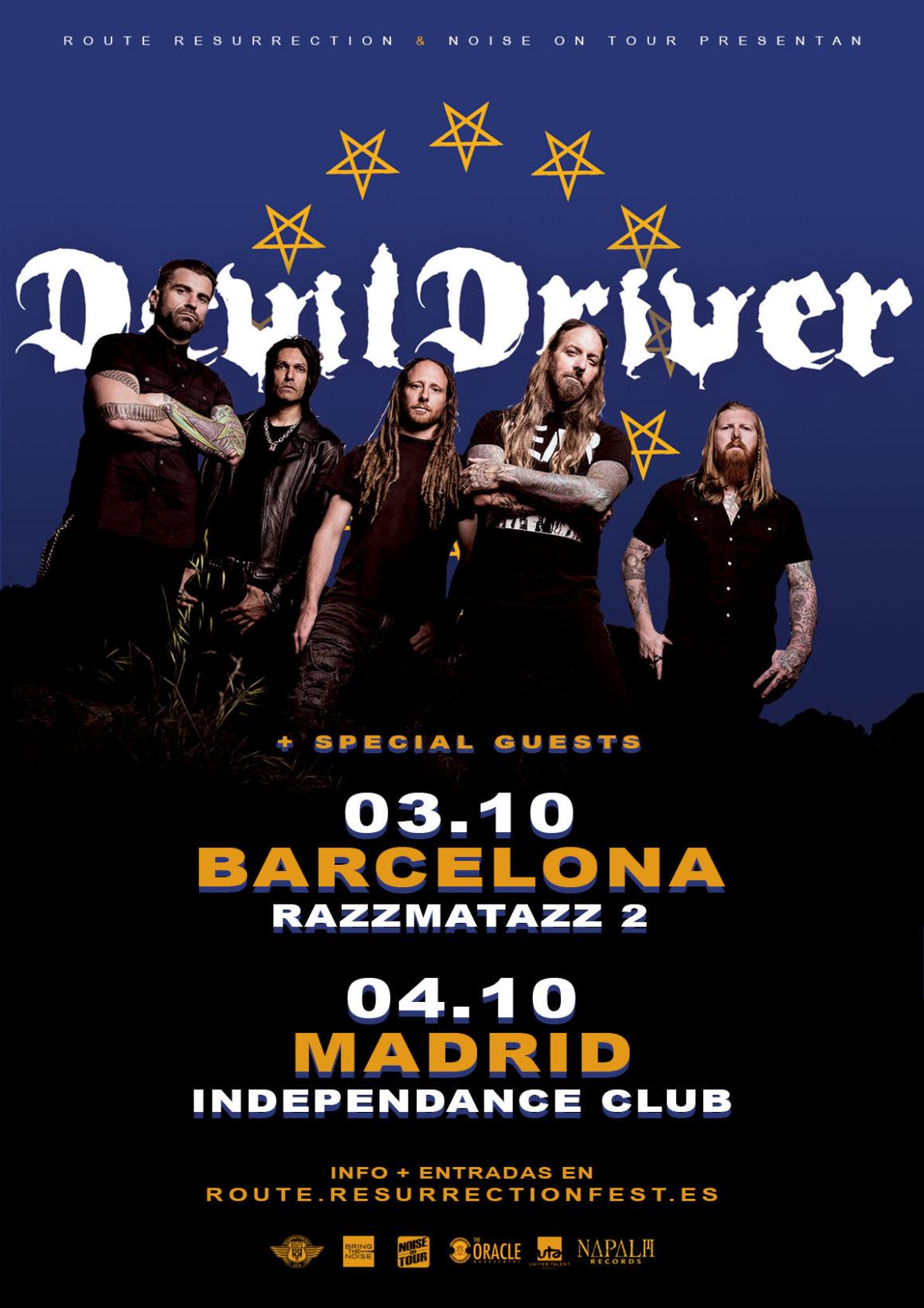 Nueva gira Route Resurrection: DevilDriver