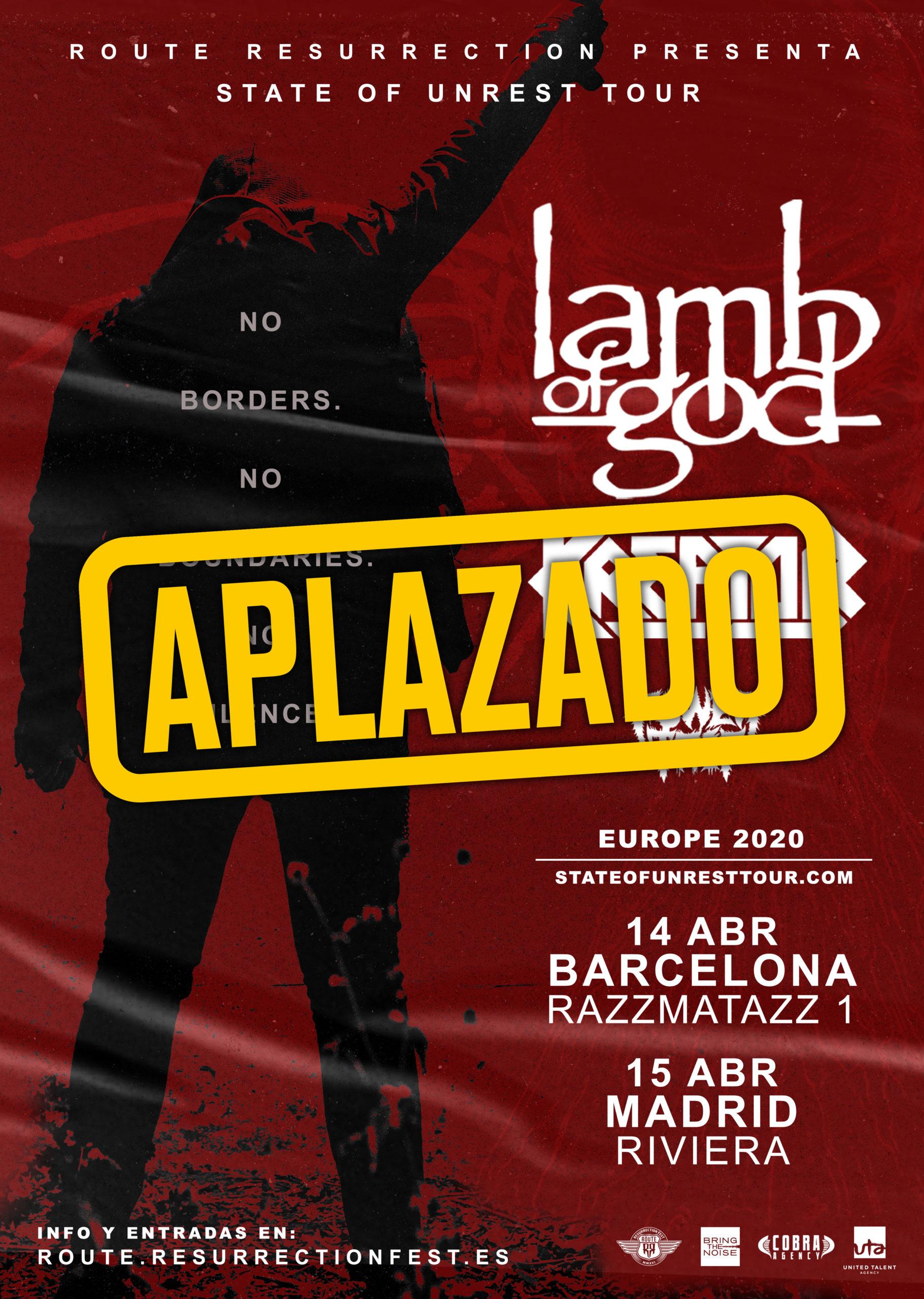 Route Resurrection 2020: Lamb of God y Kreator (Barcelona)