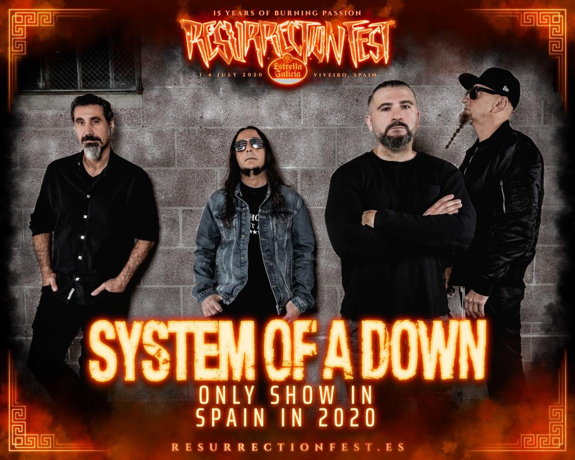 Boom! System of a Down encabezarán el Resurrection Fest Estrella Galicia 2020