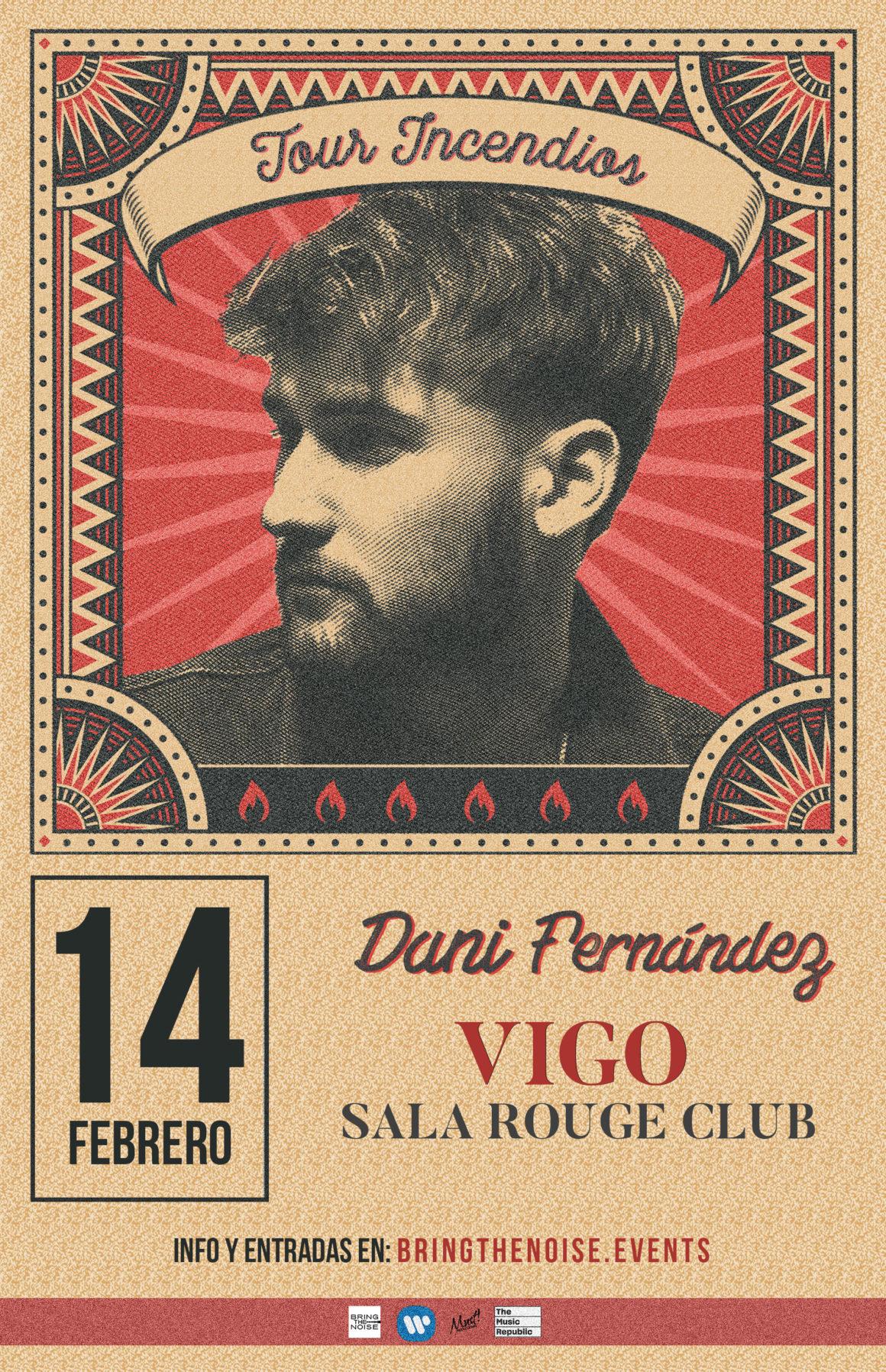 Dani Fernández actuará en Vigo en febrero en su tour «Incendios»