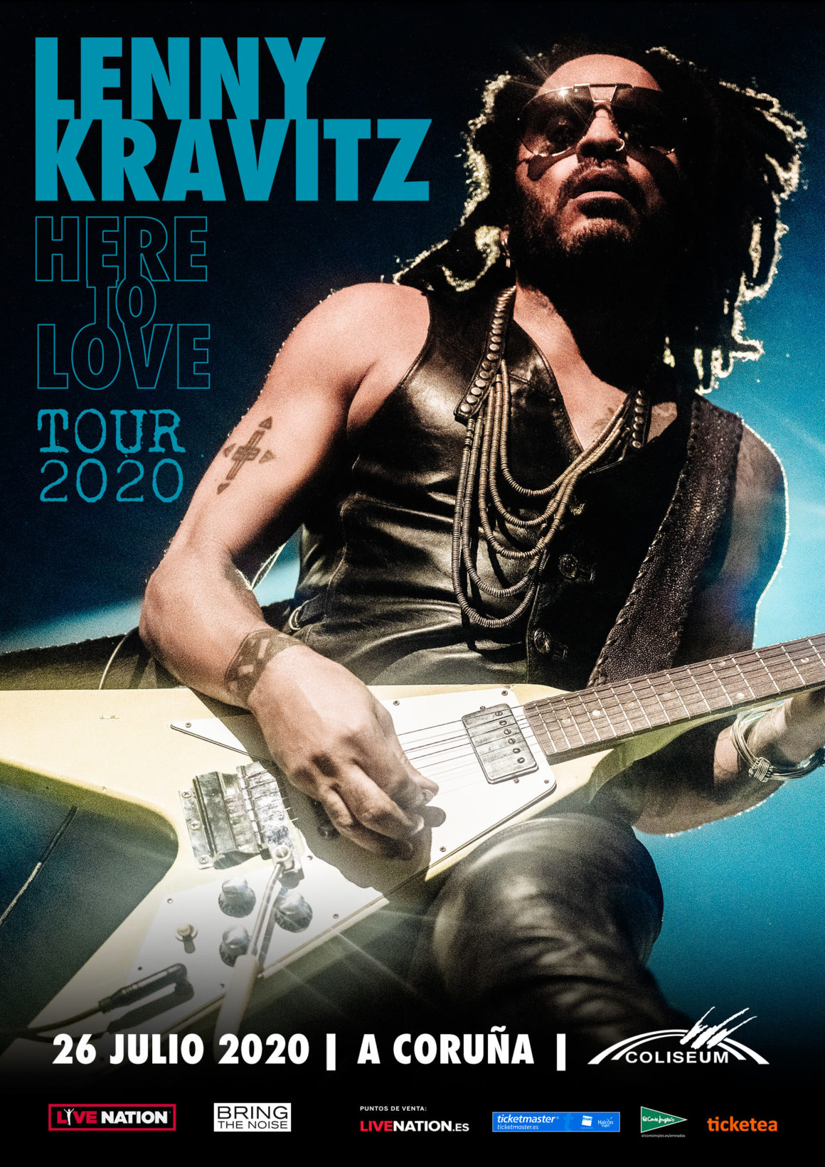 LENNY KRAVITZ anuncia nueva gira mundial «HERE TO LOVE» con parada en A Coruña el próximo 26 de julio 2020 en el Coliseum
