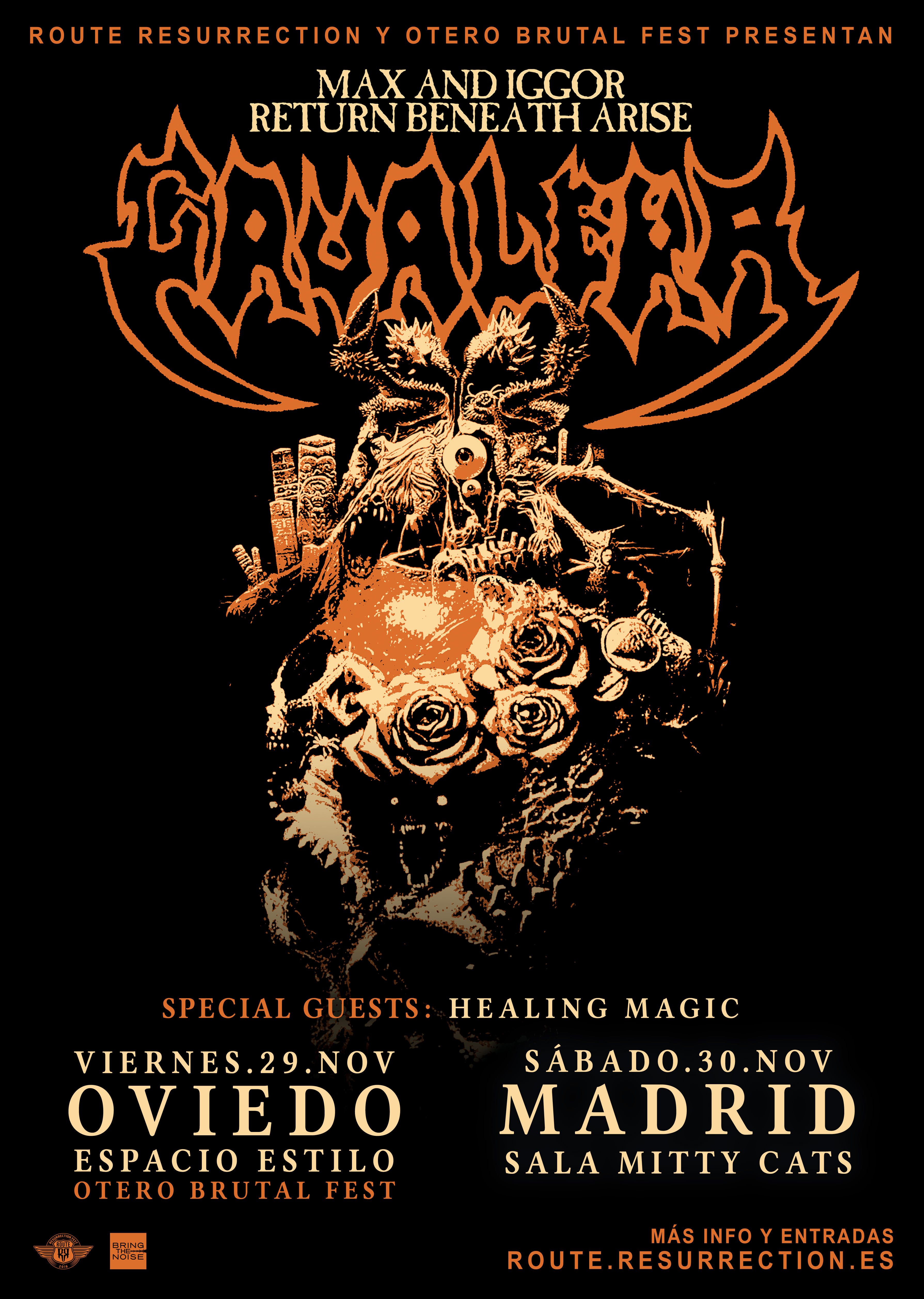 Route Resurrection 2019: Max & Iggor Cavalera presentan «Return Beneath Arise» (Madrid)