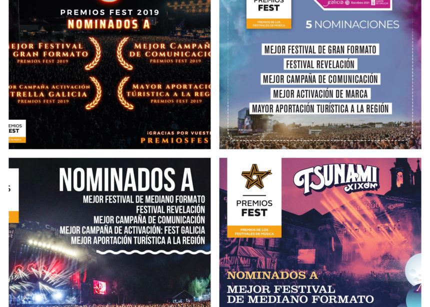 14 nominaciones en los Premios Fest 2019 en nuestros festivales
