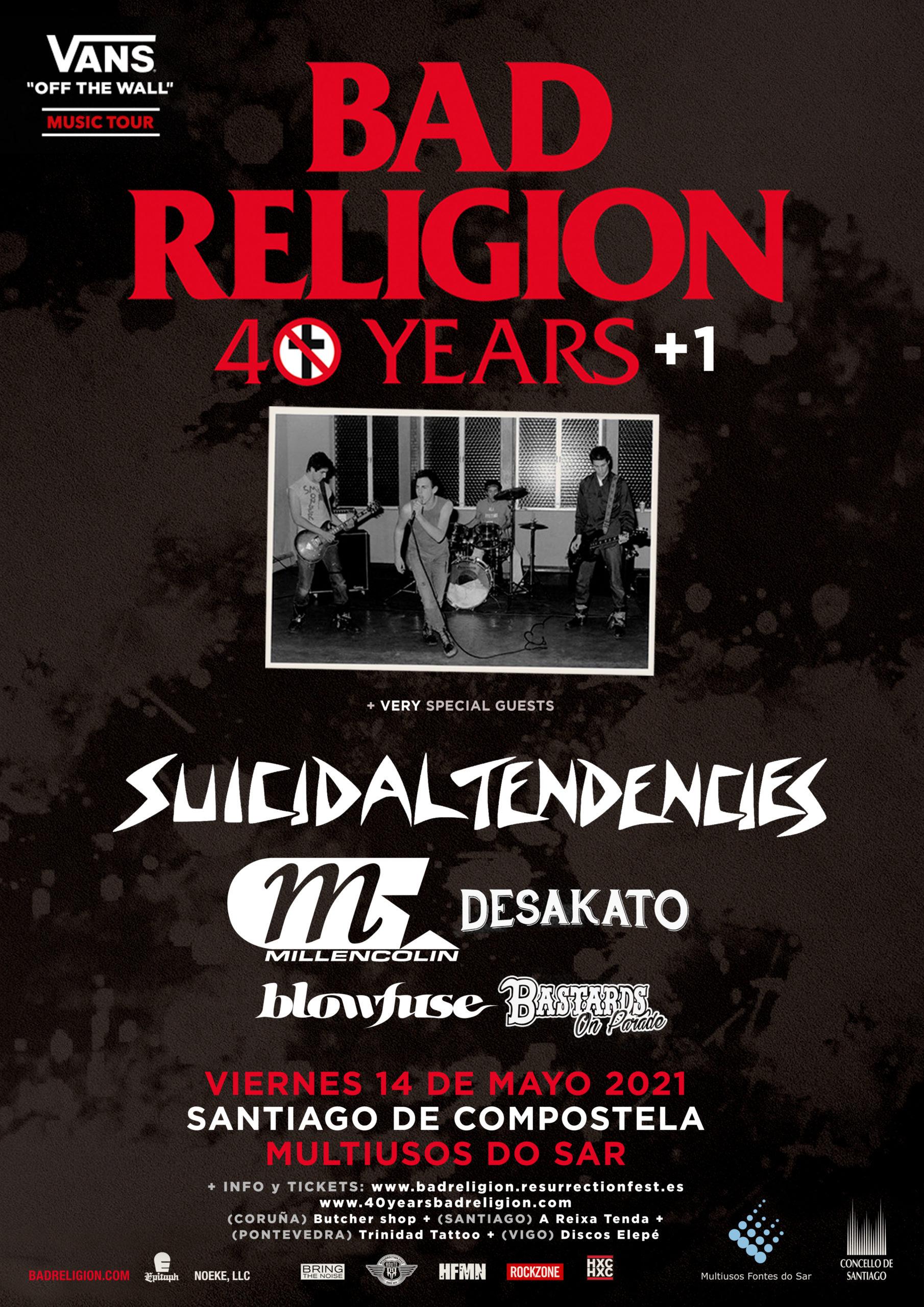 Route Resurrection 2021: Bad Religion – 40+1 Years (Santiago de Compostela)