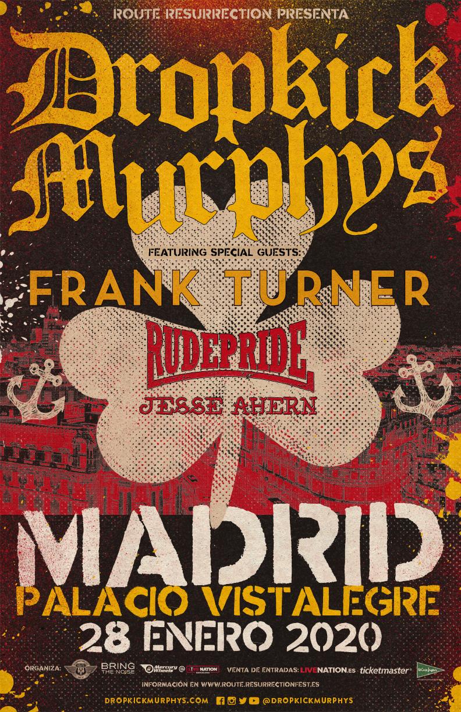Route Resurrection 2020: Dropkick Murphys (Madrid)