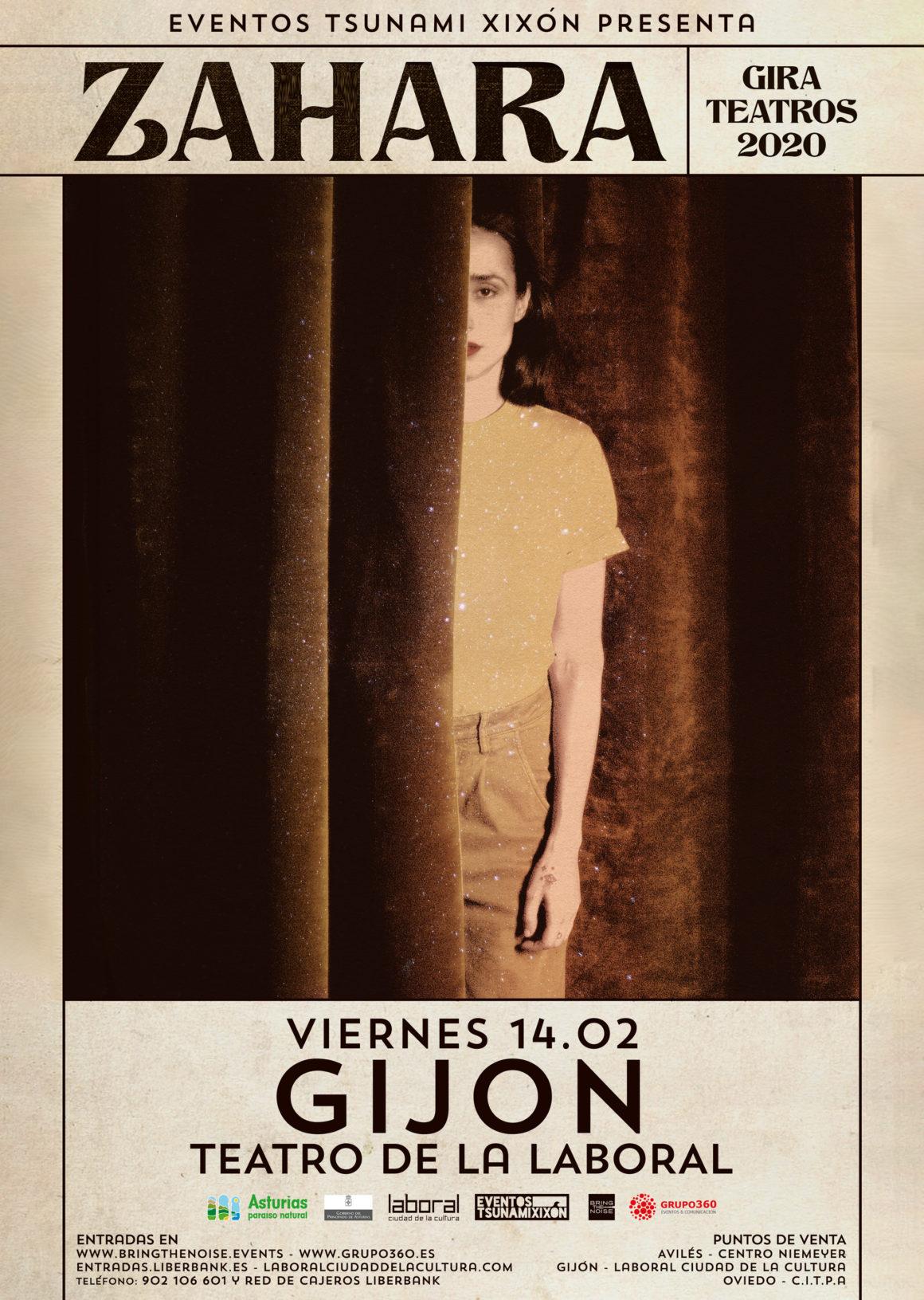 Zahara anuncia gira de teatros y actuará en el Teatro de la Laboral de Gijón