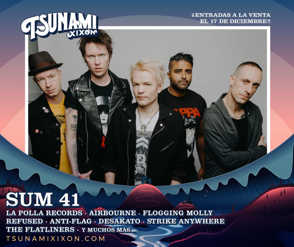 Sum 41, confirmados como cabezas de cartel para el Tsunami Xixón 2020