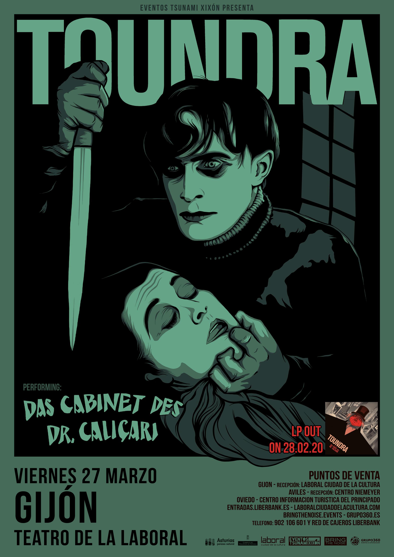 Toundra presentará «'Das Gabinete Des Dr. Caligari» en el Teatro de la Laboral de Gijón