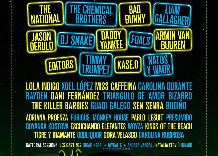 The Chemical Brothers, The National, Bad Bunny, Liam Gallagher, Jason Derulo, Foals, Daddy Yankee o DJ Snake, entre los protagonistas de la 3ª edición de O Son do Camiño que acogerá O Monte do Gozo
