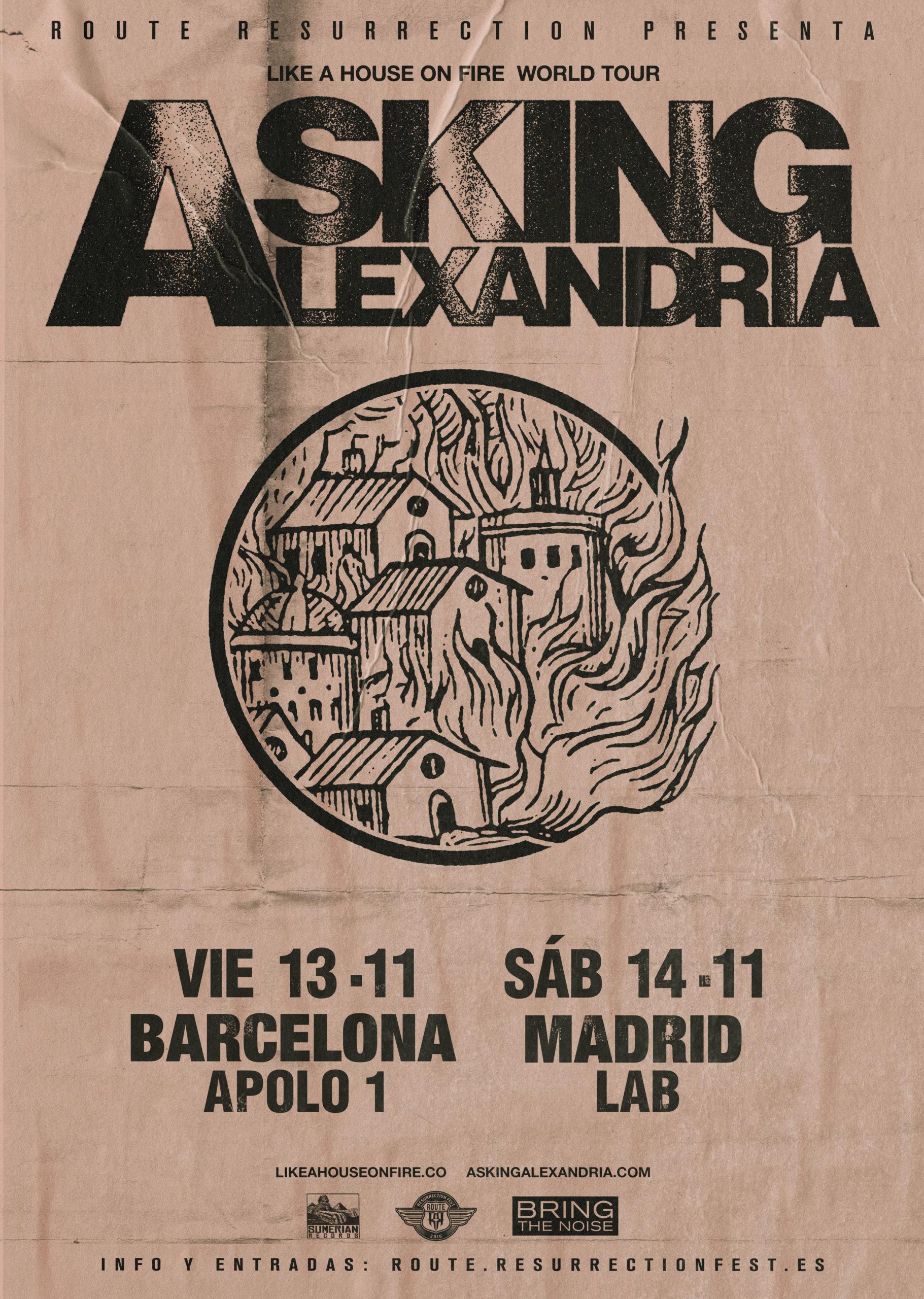 Route Resurrection 2020: Asking Alexandria (Madrid)