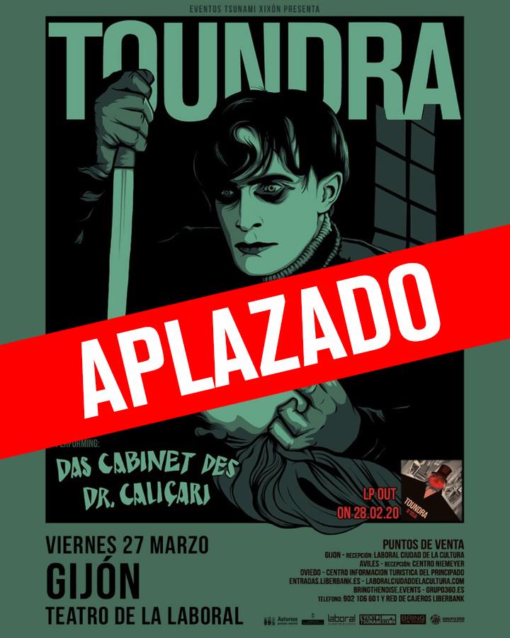 Concierto de Toundra en Gijón aplazado