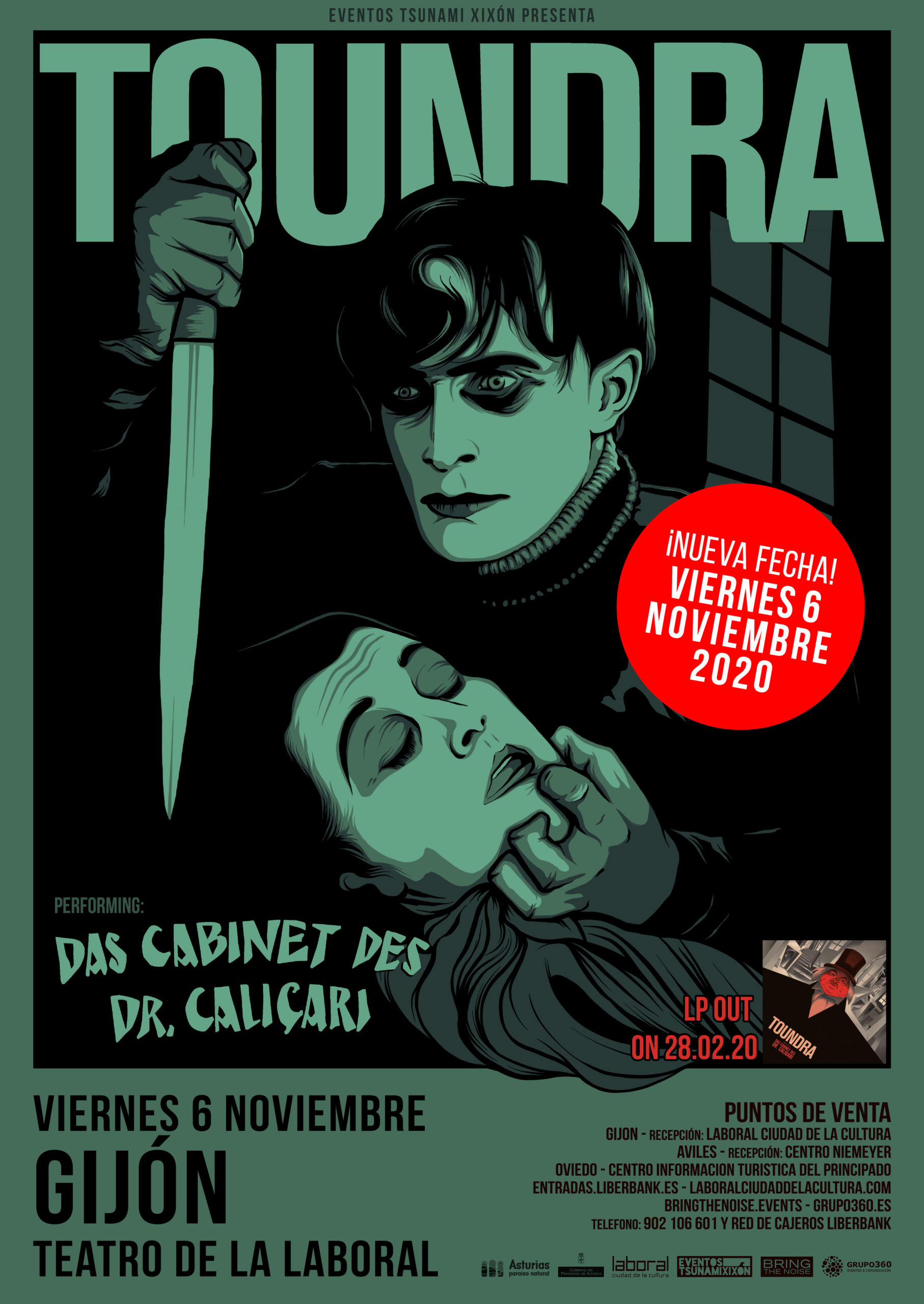 Toundra presentará «'Das Cabinet Des Dr. Caligari» en el Teatro de la Laboral de Gijón