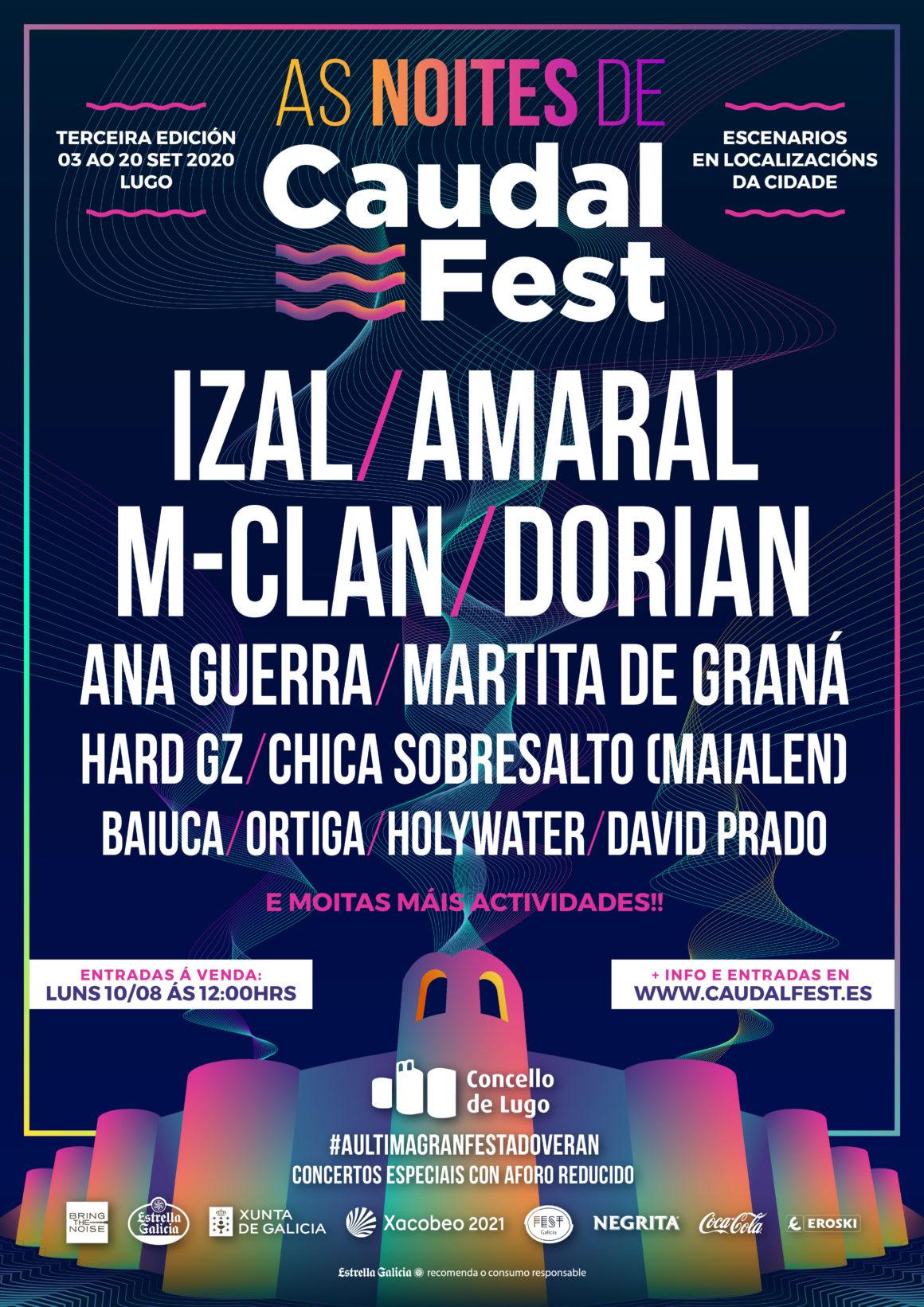 Presentamos As Noites de Caudal Fest: un ciclo de conciertos seguros y de aforo reducido en Lugo en septiembre