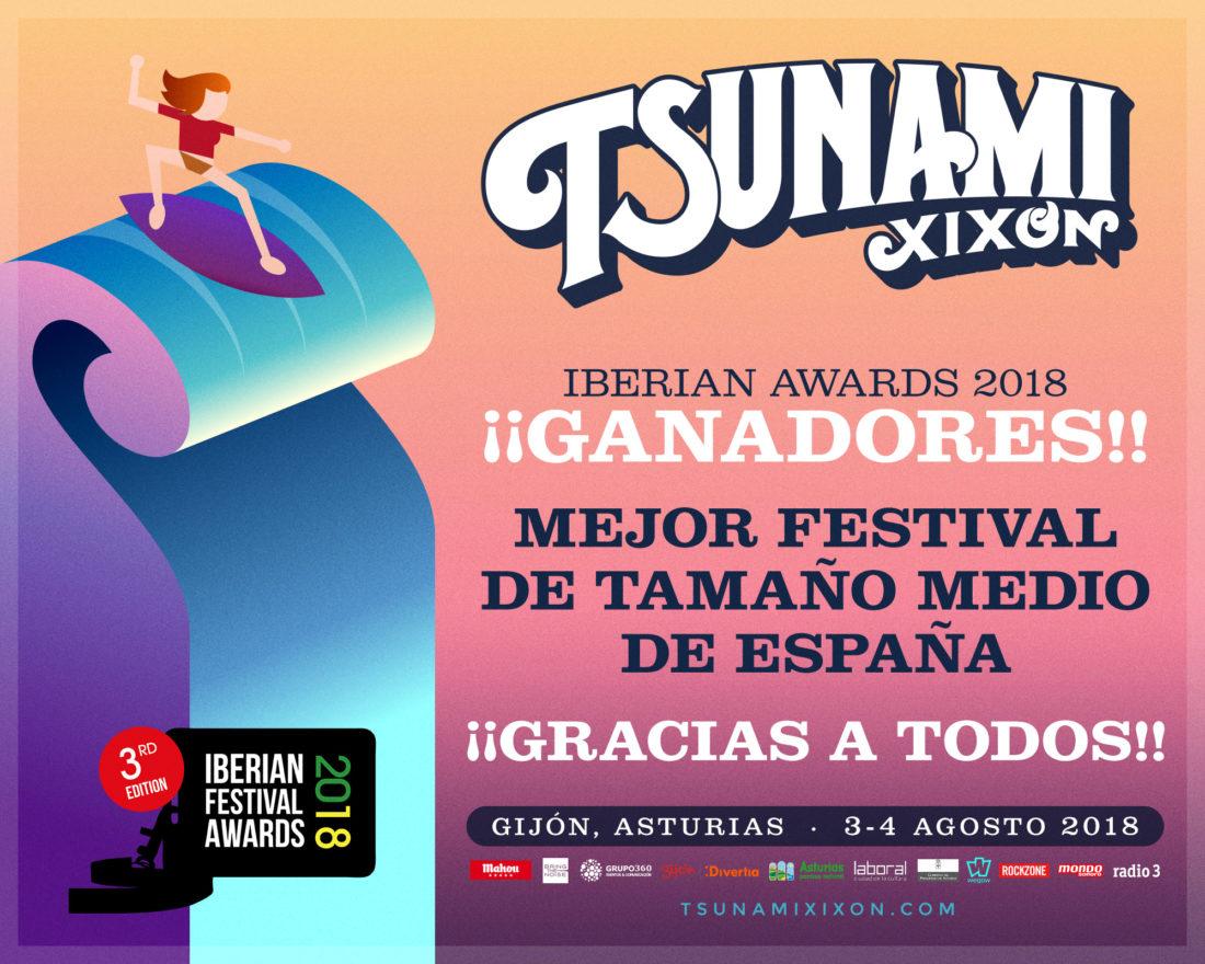 Tsunami Xixón: Mejor Festival de tamaño medio de España en los Iberian Festival Awards