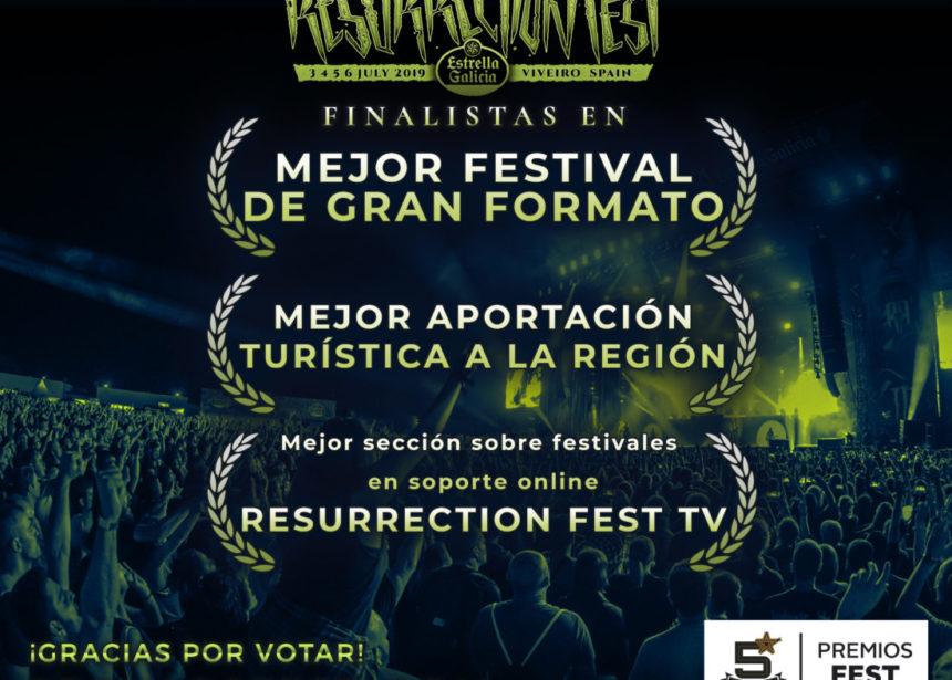 RESURRECTION FEST FINALISTA EN 3 CATEGORÍAS DE LOS PREMIOS FEST 2018, ¡GRACIAS POR VOTAR!