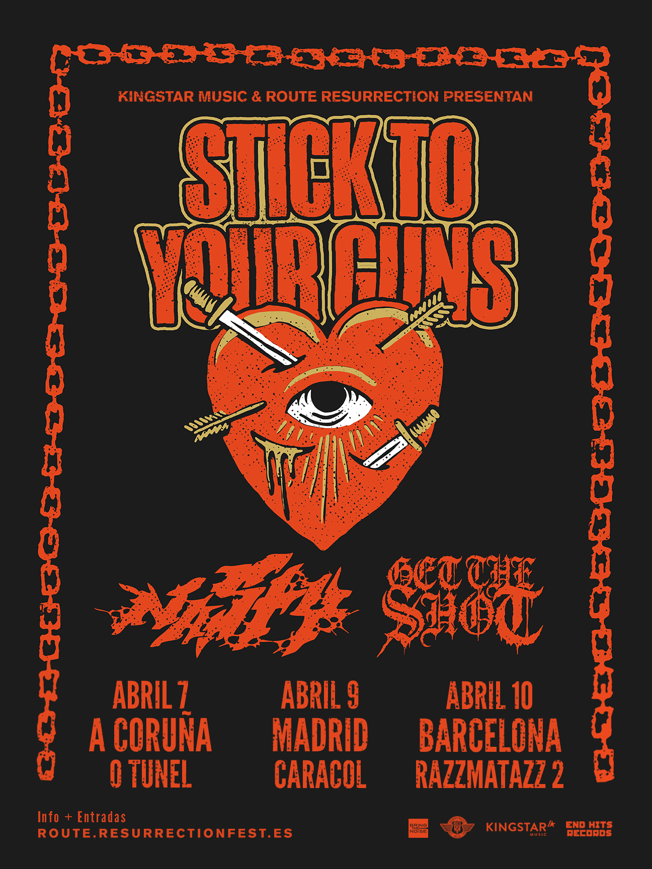 Route Resurrection 2019: Stick To Your Guns (Barcelona)