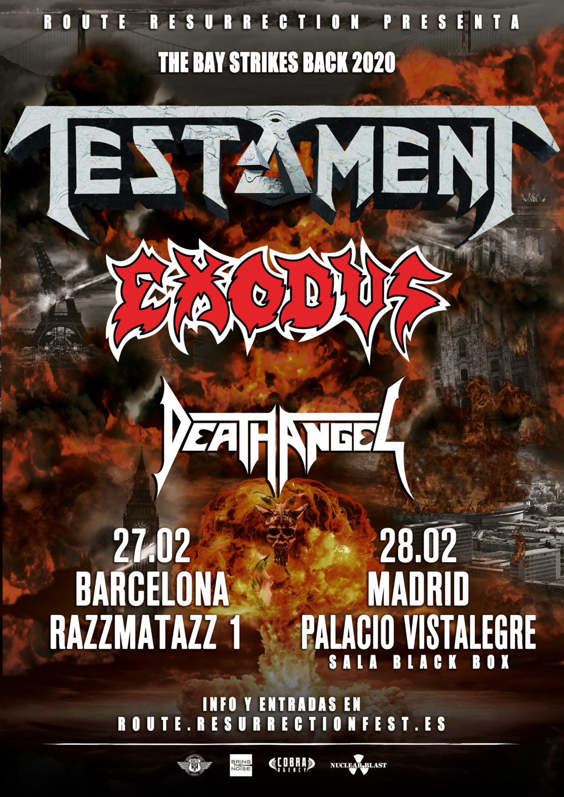 Nueva gira Route Resurrection: Testament con Exodus y Death Angel