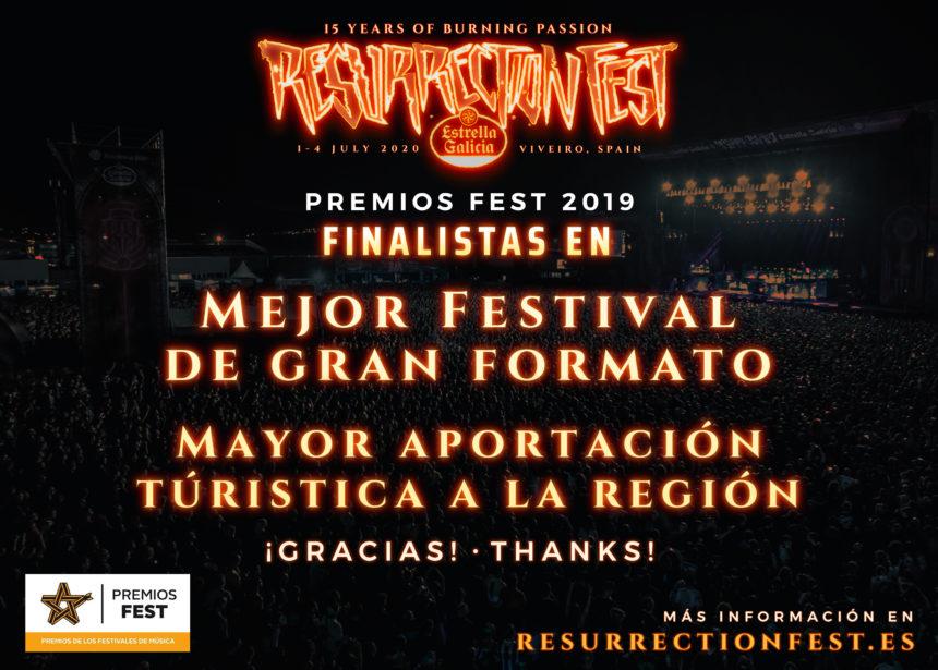 Resurrection Fest y O Son do Camiño, finalistas de los Premios Fest 2019