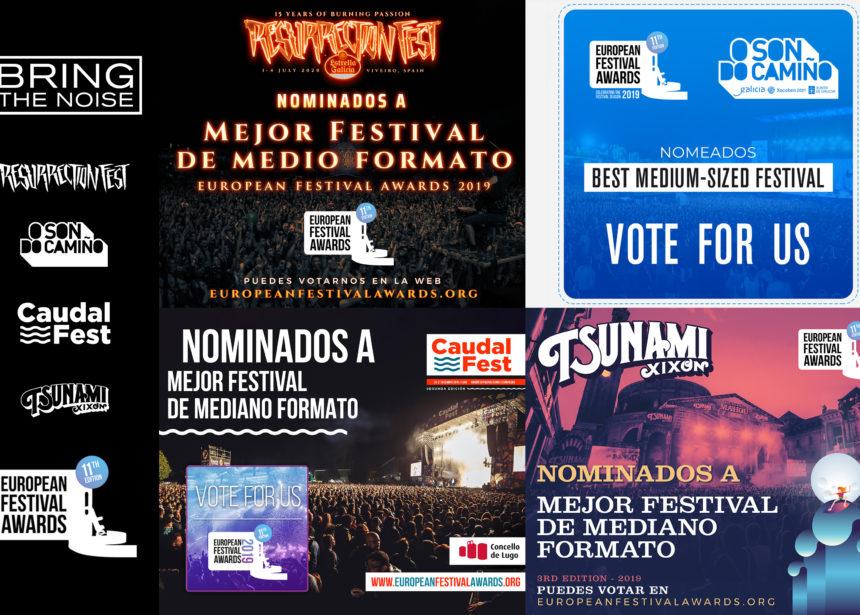 Resurrection Fest, O Son do Camiño, Caudal Fest y Tsunami Xixón, nominados en los European Festival Awards
