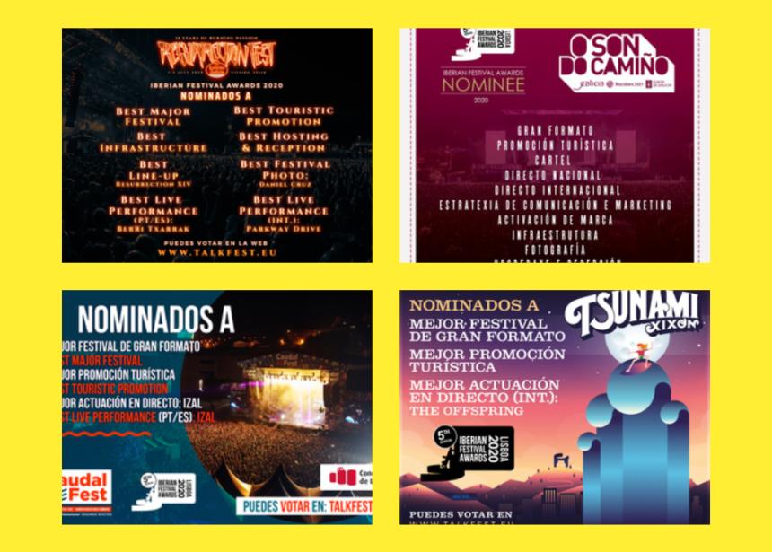 Resurrection Fest Estrella Galicia, O Son do Camiño, Caudal Fest y Tsunami Xixón, nominados en los Iberian Festival Awards
