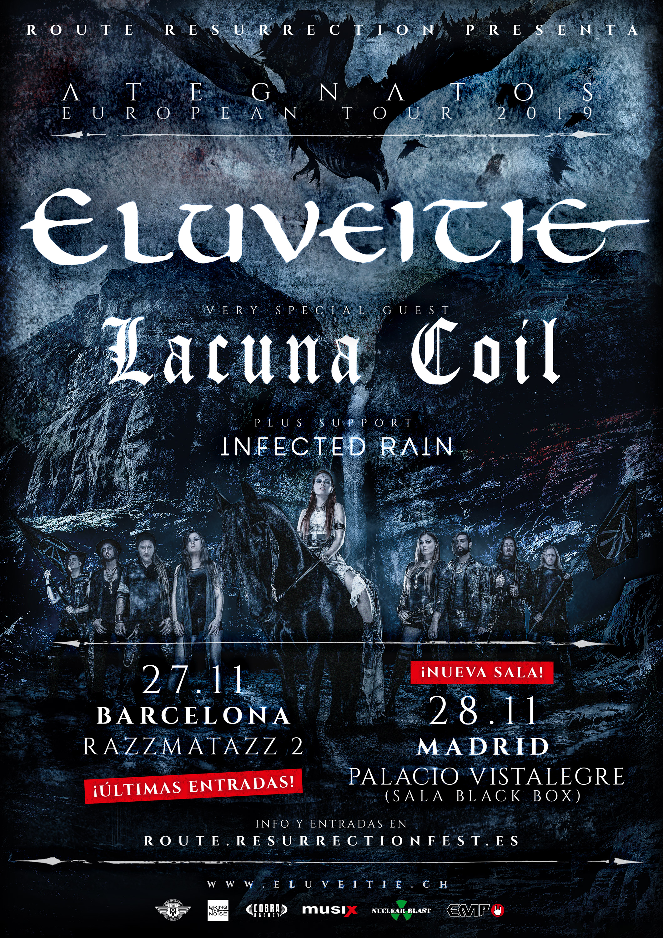 Route Resurrection 2019: Eluveitie + Lacuna Coil (Madrid)
