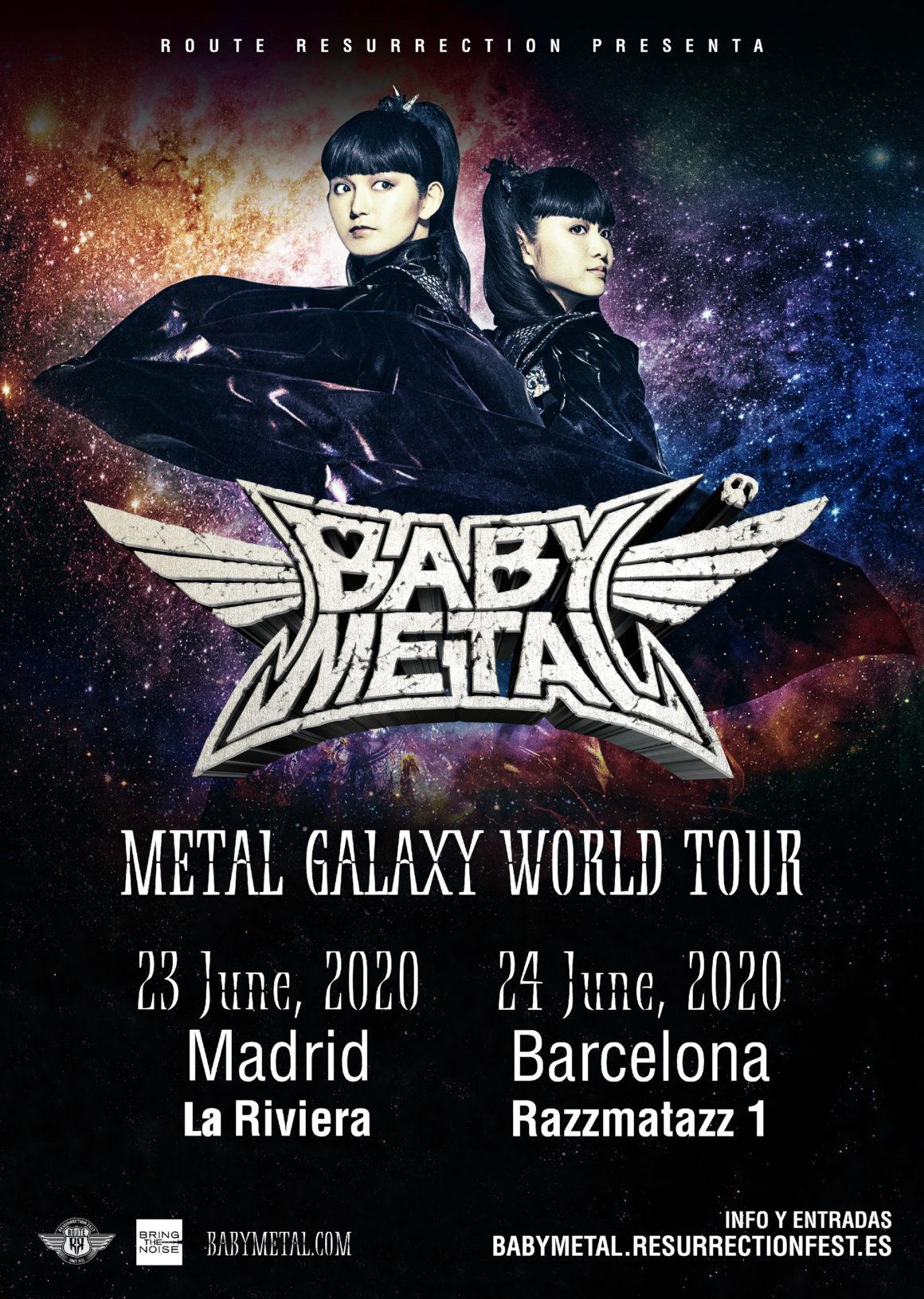 Nueva gira Route Resurrection: ¡Babymetal actuarán por primera vez en España!