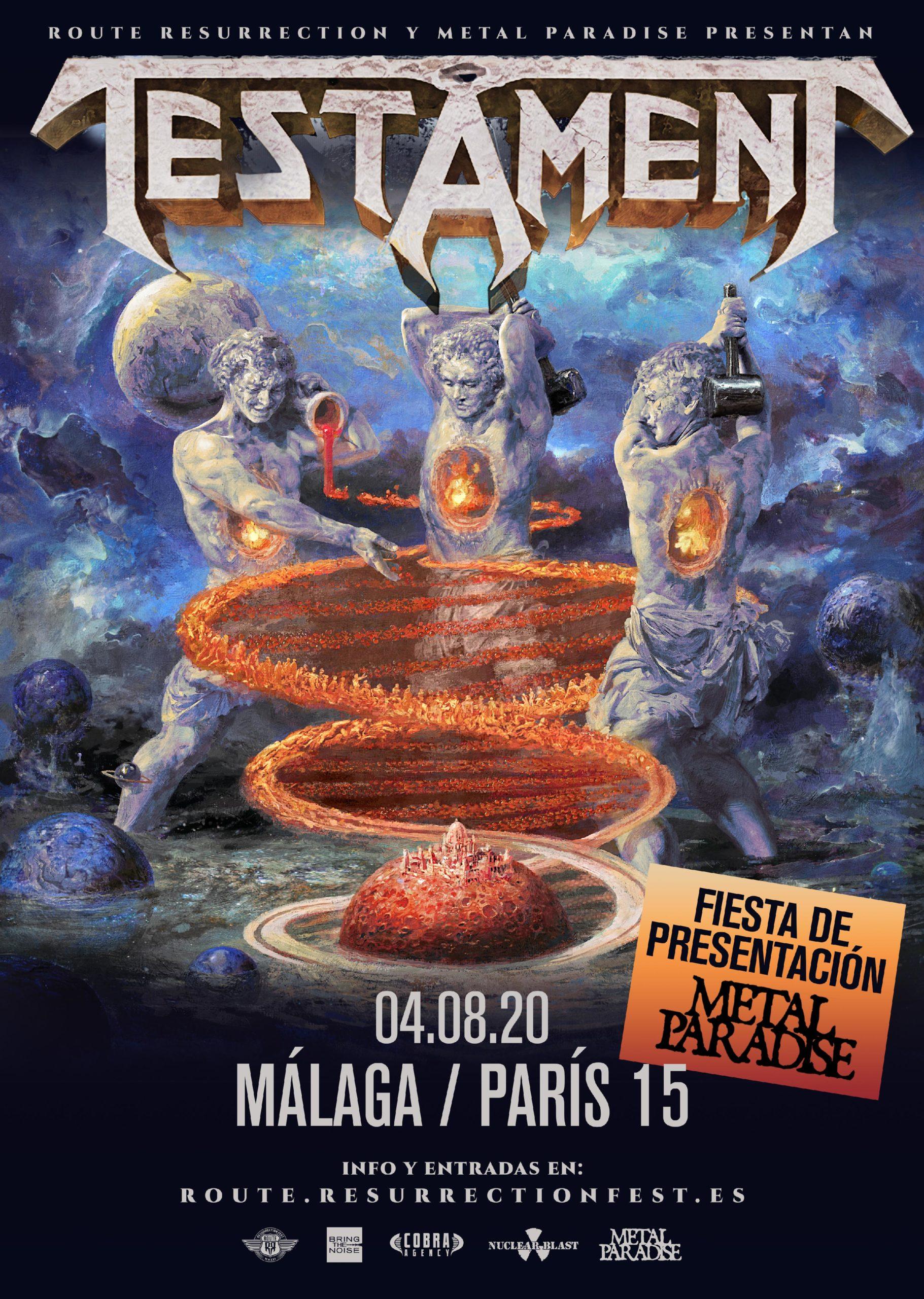 Route Resurrection: Testament (Málaga, fiesta de presentación del Metal Paradise Fest 2020)