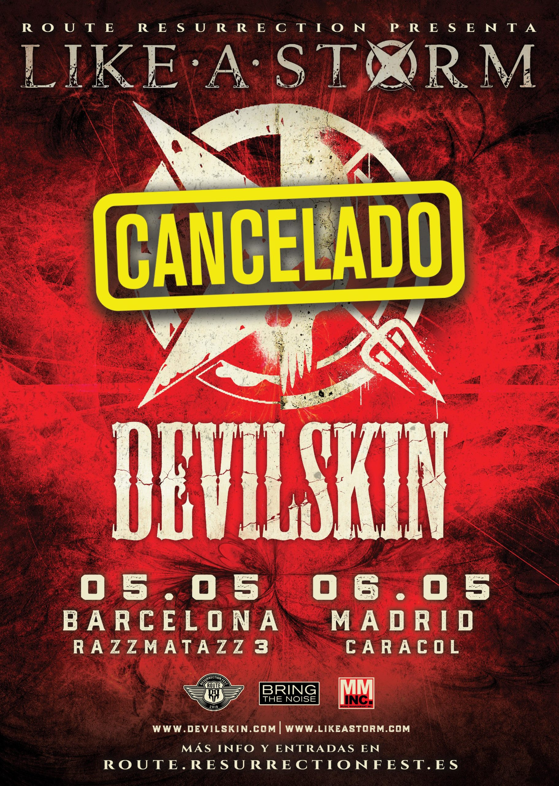 Route Resurrection 2020: Like A Storm + Devilskin (Madrid)