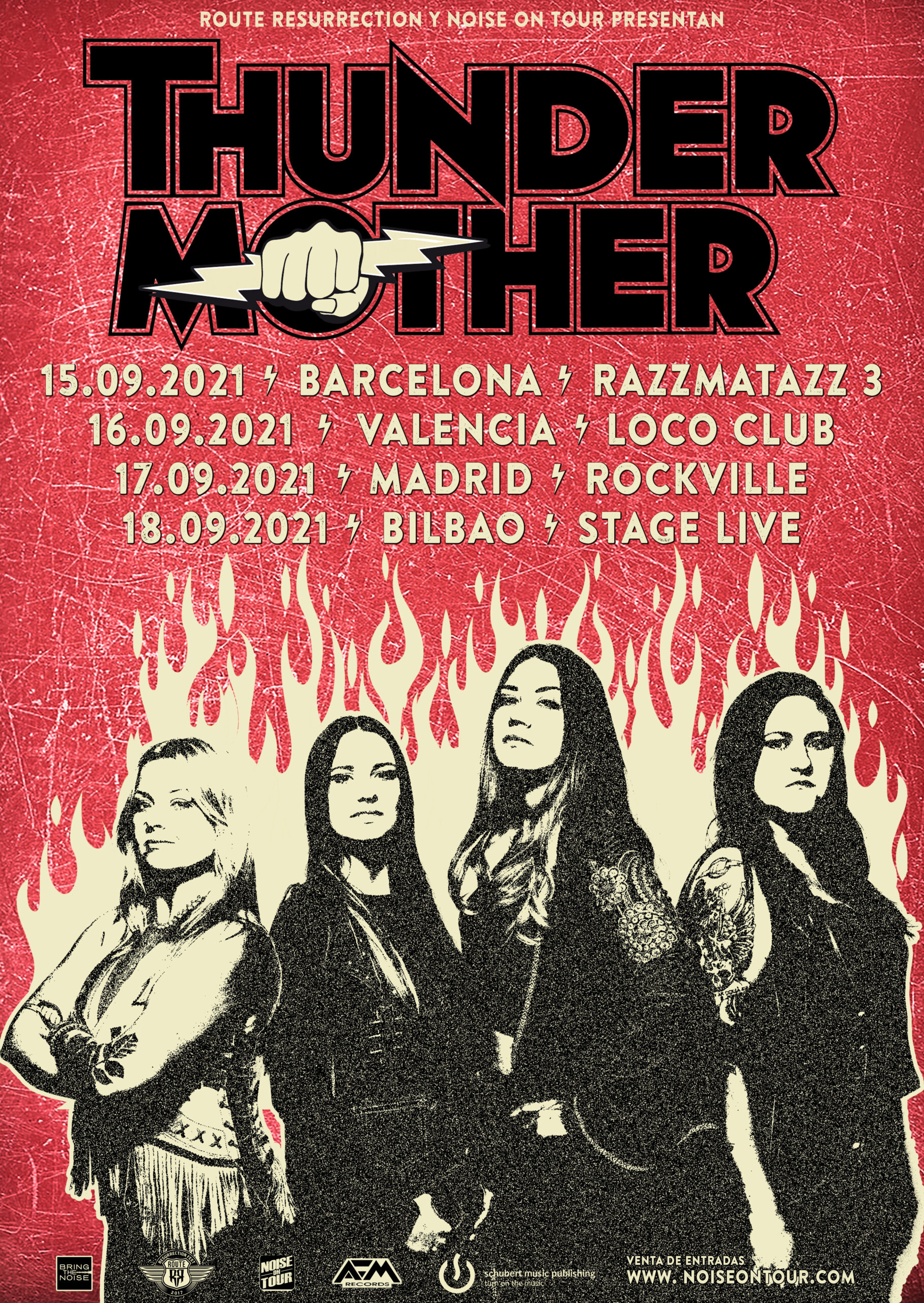 Route Resurrection 2021: Thundermother (Barcelona)
