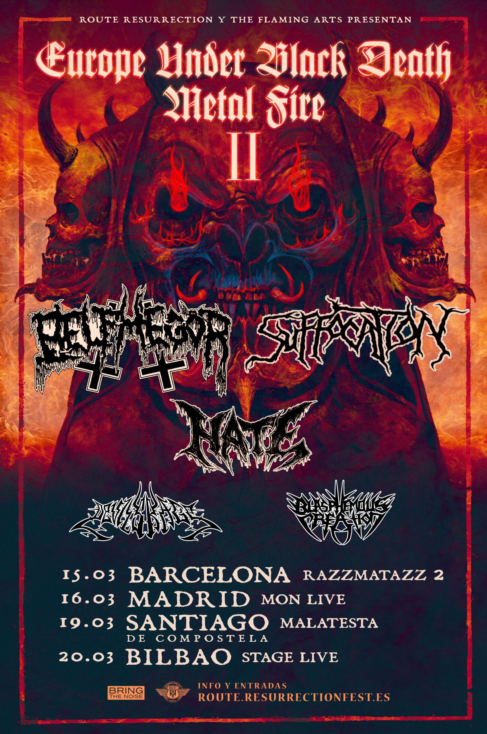 Route Resurrection 2022: Suffocation + Belphegor (Barcelona)