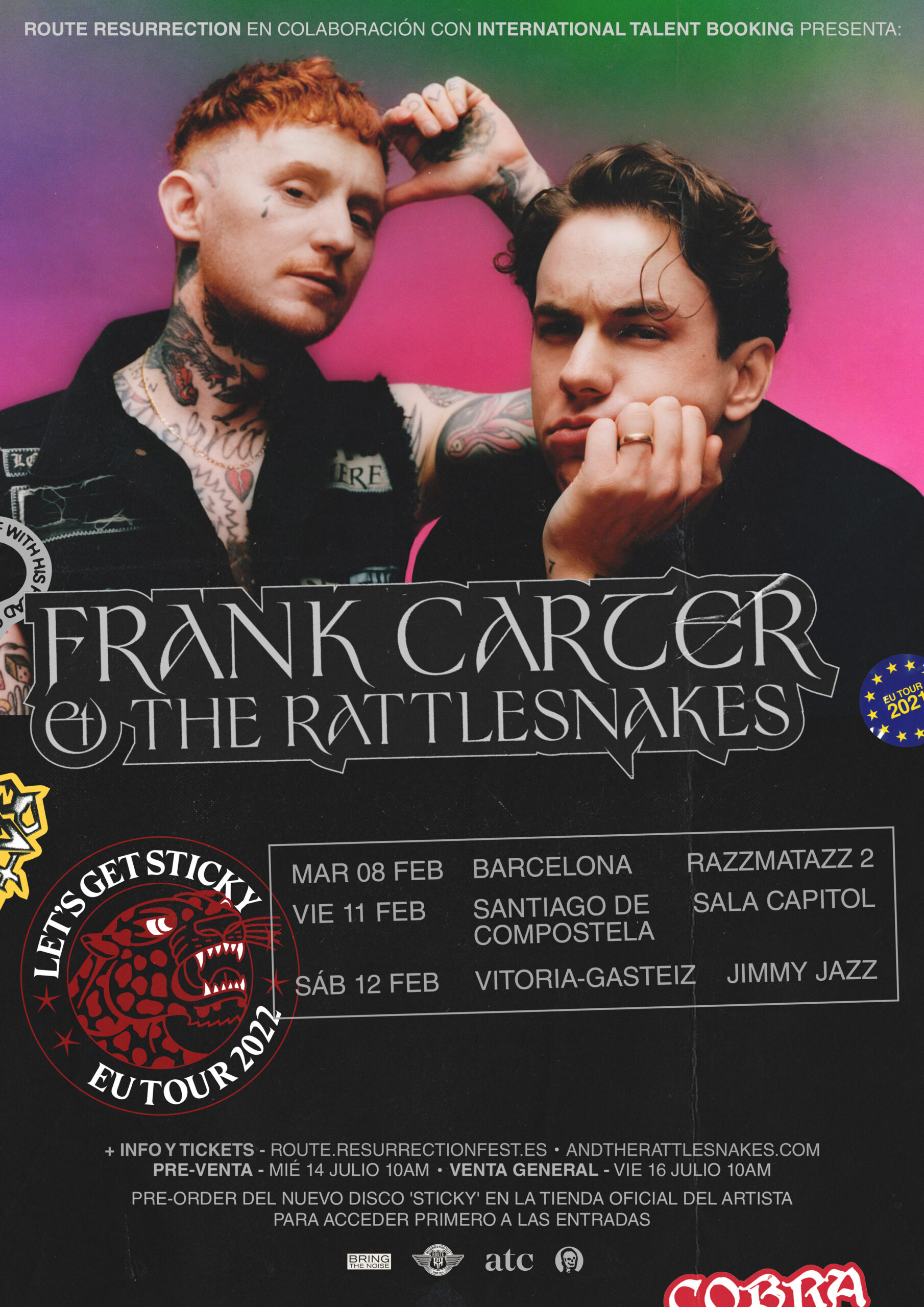 Route Resurrection: Frank Carter & The Rattlesnakes (Vitoria-Gasteiz, 2022)