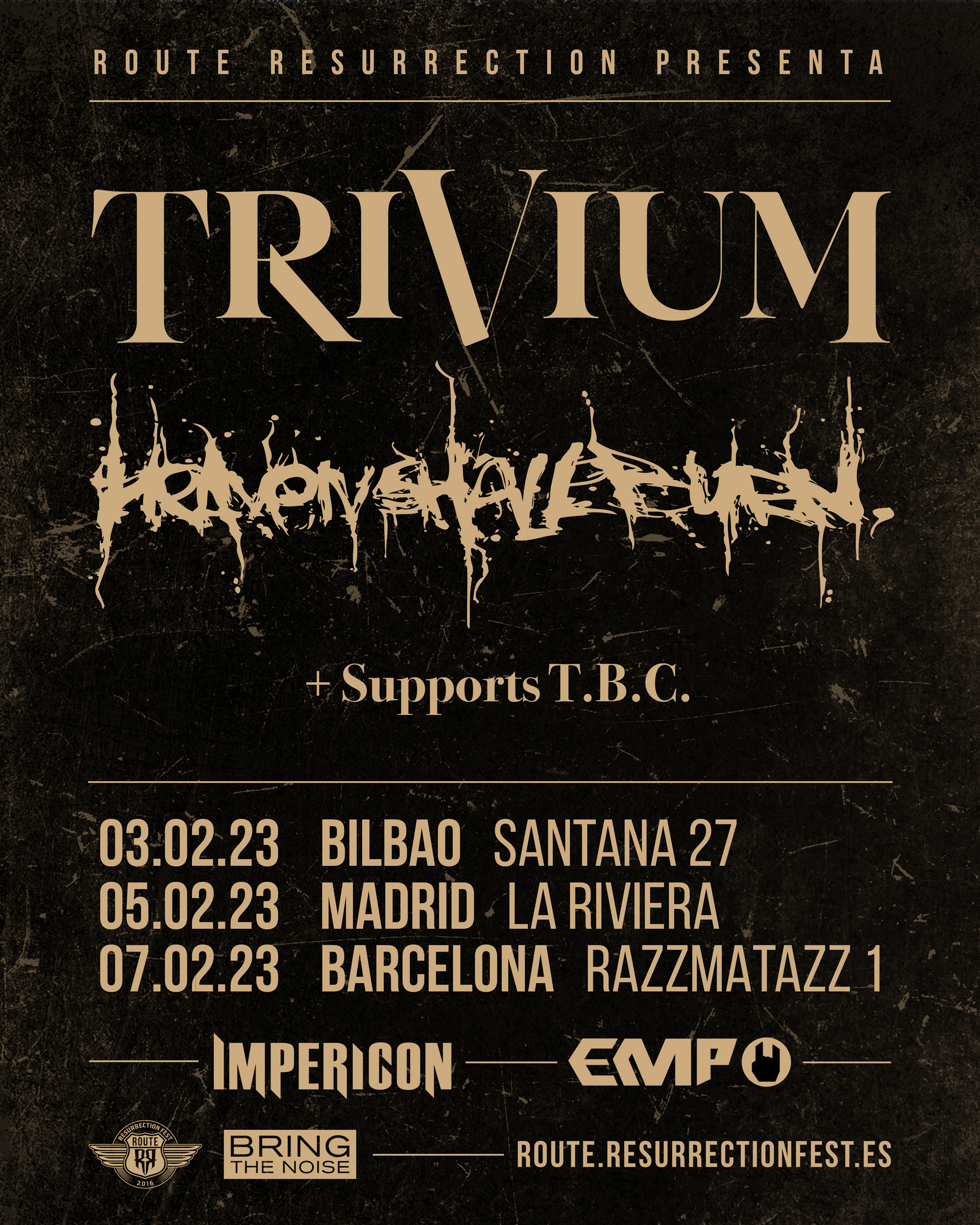 Route Resurrection 2023: Trivium y Heaven Shall Burn (Madrid)