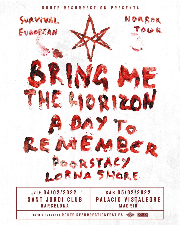 Bring Me The Horizon actuarán en España en 2022 con la mayor gira de su historia